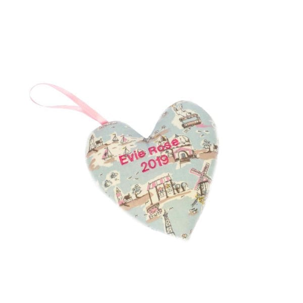 Keepsake heart made from baby clothes