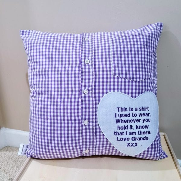 Cushions made from shirts