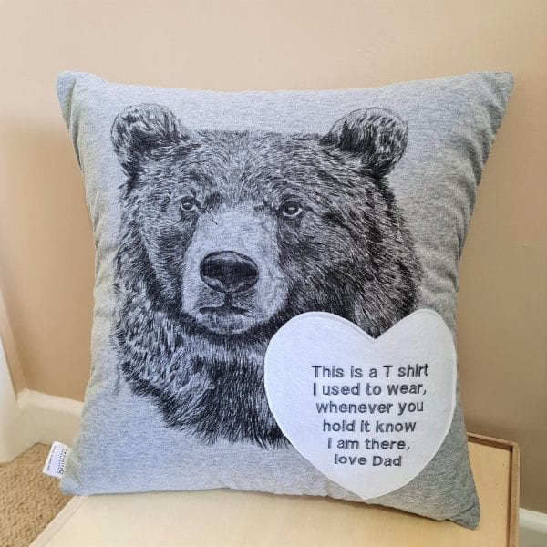 t-shirt made into a cushion