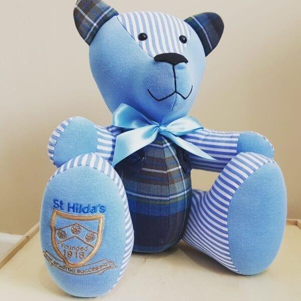 Memory Bear made from school uniform
