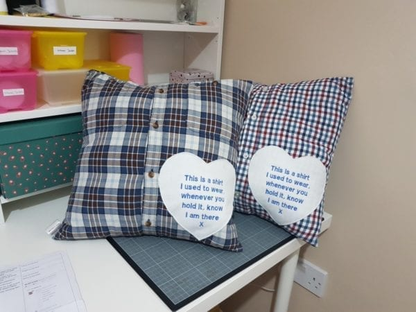 Shirt Cushions - Checked Shirts