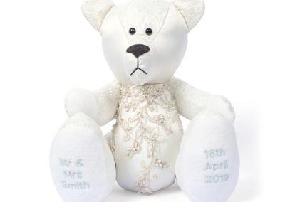 wedding dress bear