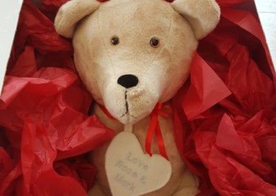 Homemade teddy bear