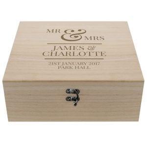 Keepsake Box - Mr & Mrs
