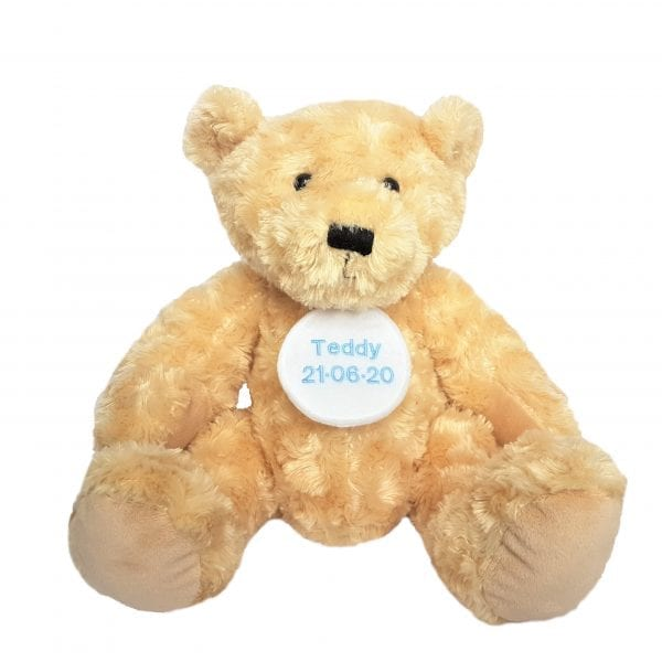Personalised Teddy Bear - Round Name Tag