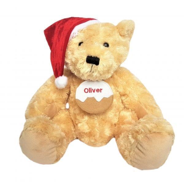 Personalised Teddy - Christmas Pudding Tag