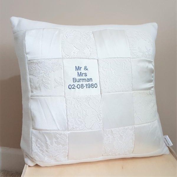wedding dress cushion