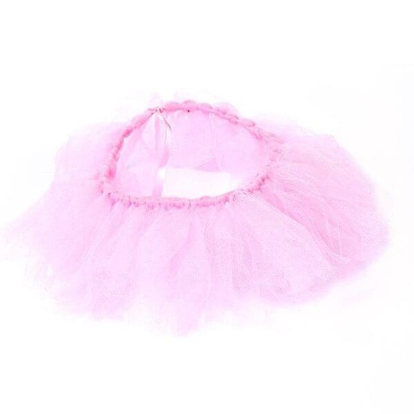 Ashes Memory Bear - Image of an optional pink mesh tutu.