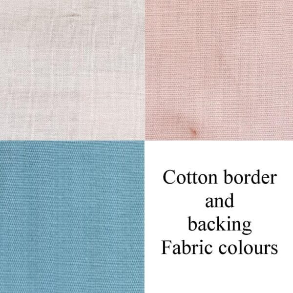 Luxury Memory Quilt: Image of the cotton border and backing colour options.