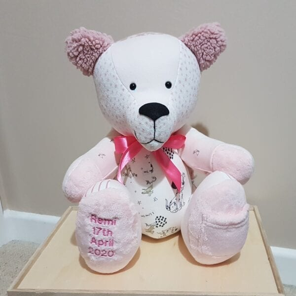 Keepsake Memory Bear - Baby Girl Clothes