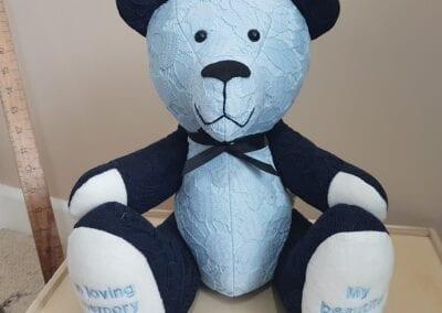 Memorial Memory Bear - Blue Lace