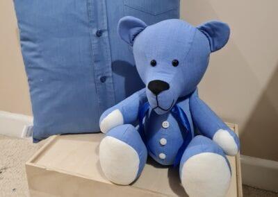 Memory Bear & Cushion - Blue Shirt