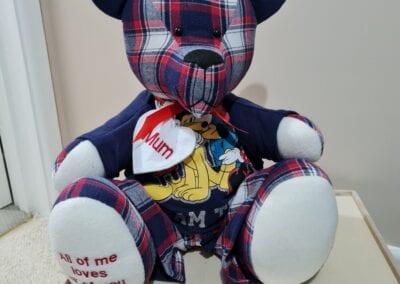 Memory Bear With Custom Pajamas