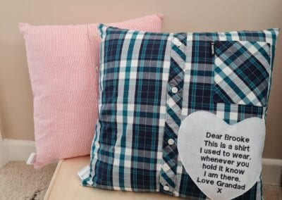 Shirt Cushions - Infinity Keepsakes