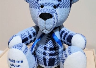 Memory bear made from a jumper