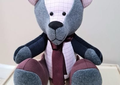 Memory bear with a tie