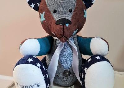 Memory bear with a waistcoat