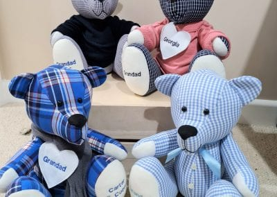 Memory bears made from shirts