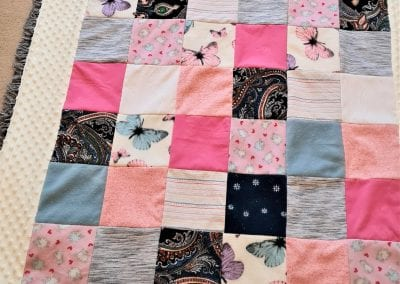 Memory blanket made from loved ones clothing