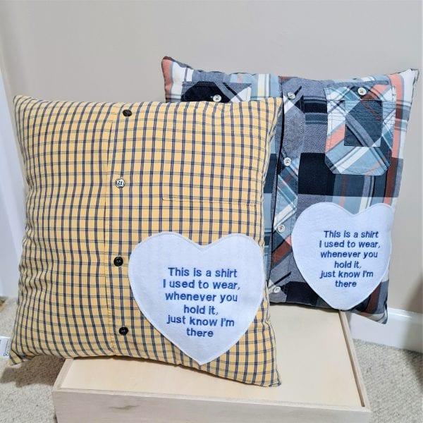 Memory shirt cushions