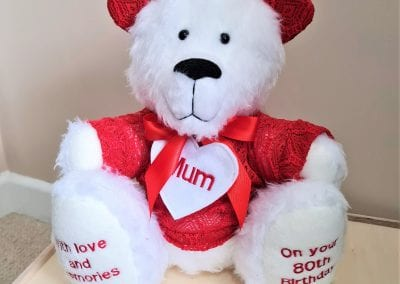 custom personalised birthday bear